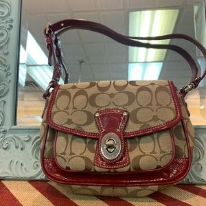 Rub Red Coach Purse